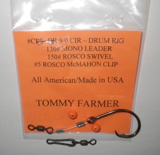 Tommy farmer fishfinder drum rig carolina cast pro for Drum fishing rigs