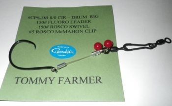 """TOMMY FARMER"" FISHFINDER DRUM RIG"
