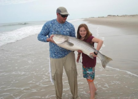 45 inch striper landed by young Skylar on a CPS 13 ft. rod